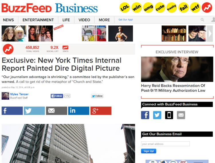 """חצי מיליון צפיות להדלפה של הדו""""ח באתר BuzzFeed"""